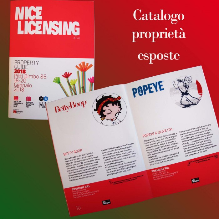 Premium Licensing & Promotions - PITTI BIMBO 86 NICE LICENSING